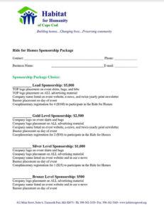 Ride for Homes Fundraiser