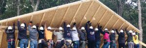 Habitat volunteer workers