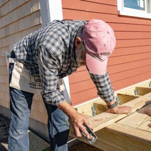 Habitat volunteer worker